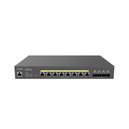 Engenius ECS2512FP Cloud-Enabled 2.5G Base-T 240W PoE++ 8 Port Network Switch