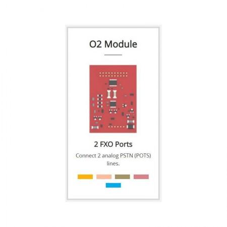 Yeastar O2 Module (2 FXO Port) สำหรับเชื่อมต่อกับเครือข่ายโทรศัพท์ PSTN ได้ 2 คู่สาย